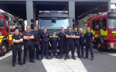10 year old Andrew Impey Embarks on NIFRS Fire Station Mission – #oneladschallenge