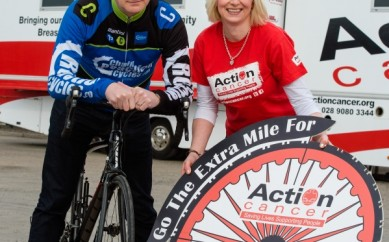 Local Cyclists Go the 'Extra Mile'  for Action Cancer Big Bus