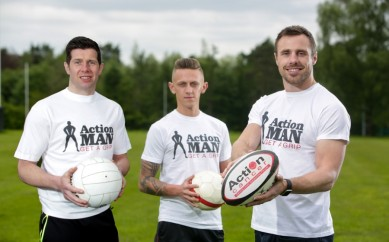 Tommy Bowe Says 'Get a Grip' as Action Man Campaign Kicks Off