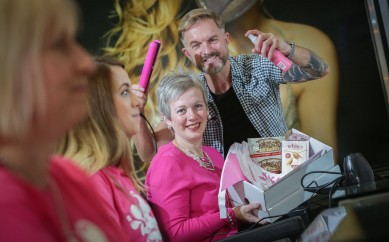 Local Hairdressers Paint the Town Pink for Action Cancer