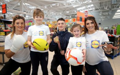 Lidl Northern Ireland launches new Sport for Good programme with top sporting trio