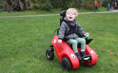 Wizzybug powered wheelchairs are now available for free to young children in Northern Ireland