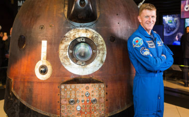 Tim Peake's Spacecraft gets ready to blast off from Ulster Transport Museum