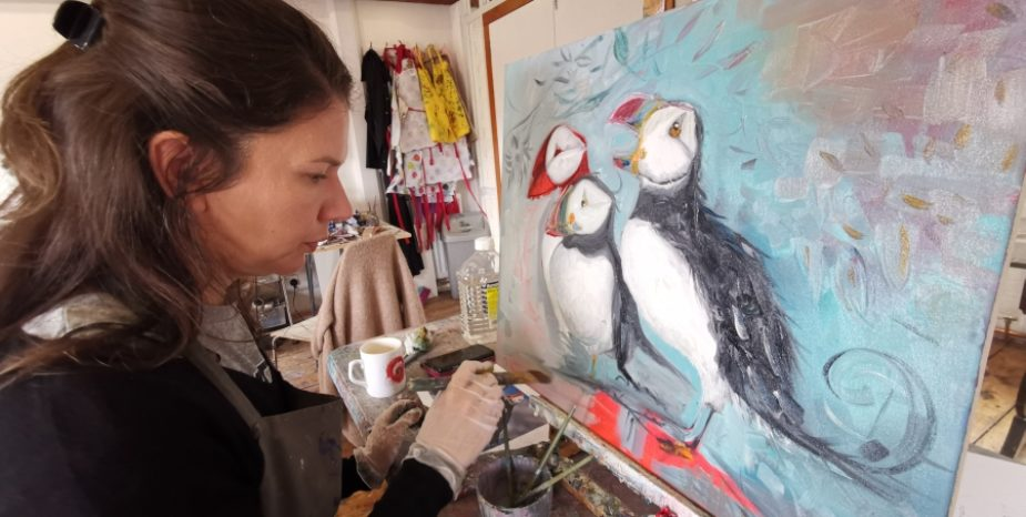 Top local artist hosts fascinating Rathlin Island inspired Art Exhibition