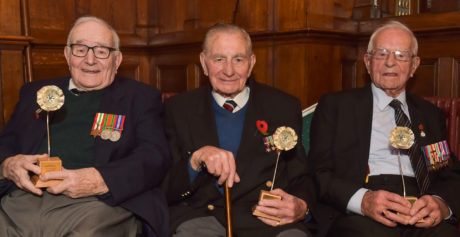 Silver Poppies Presented to Veterans at Special Ceremony in Bangor Castle