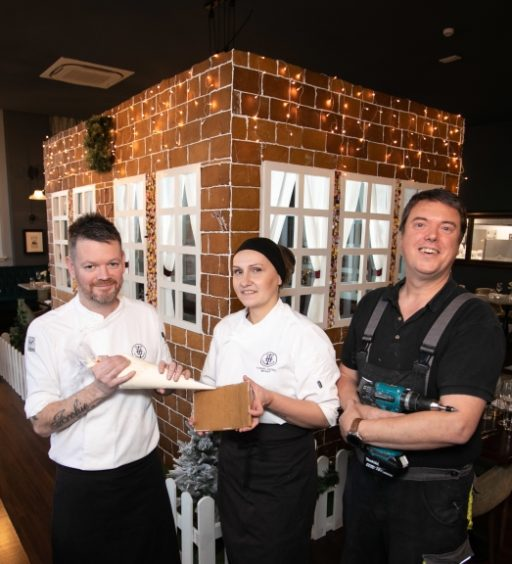 GIANT FAIRY TALE GINGERBREAD HOUSE BRINGS THE MAGIC OF CHRISTMAS TO TITANIC HOTEL BELFAST
