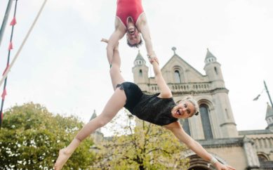 TUMBLE CIRCUS BIG TOP ARRIVES IN WRITER'S SQUARE, BELFAST!