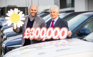 Three is the magic number as leading car retailer raises £300k in 3 years for cancer charity