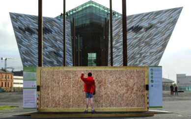 THE UK'S ONLY 'DISAPPEARING WALL' UNVEILED IN BELFAST