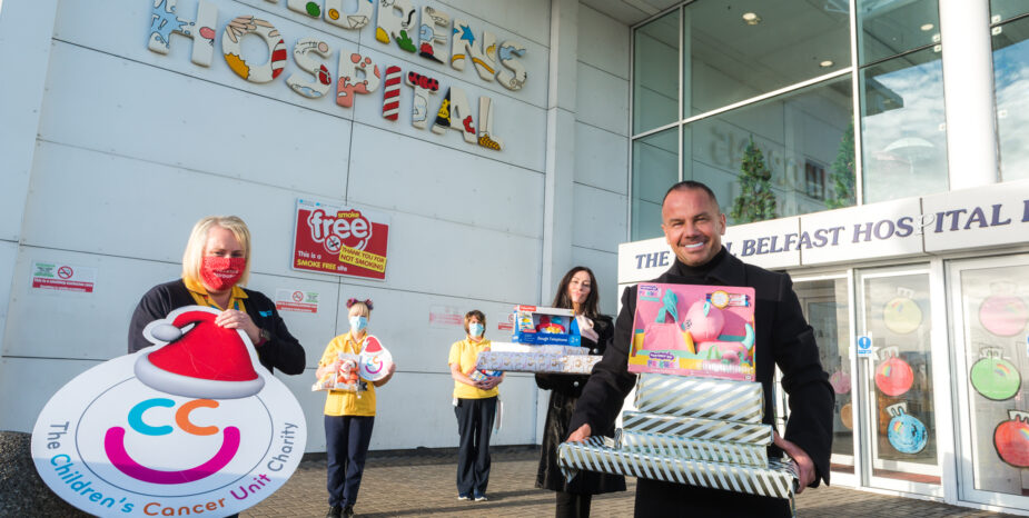 """Children's Cancer Unit Charity Receive """"Dream"""" Toy Donation"""