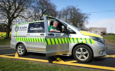 GENESIS BAKERY PROVIDES ST JOHN AMBULANCE (NI) WITH RAPID RESPONSE VEHICLE IN FIGHT AGAINST RISING PRESSURES ON OUR HEALTH SERVICE