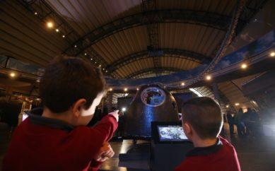 Tim Peake's spacecraft 'lands' at Ulster Transport Museum