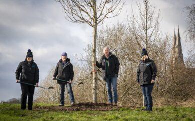 Tree planting at Northern Ireland's oldest scientific institution